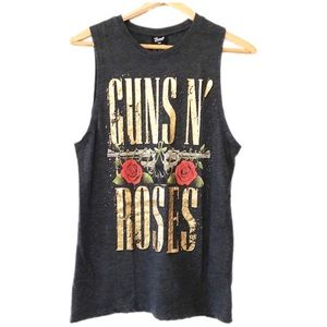 Bravado Guns and Roses grey muscle tee Size S